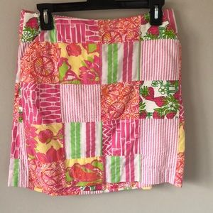 Lilly Pulitzer Patchwork Mini Skirt